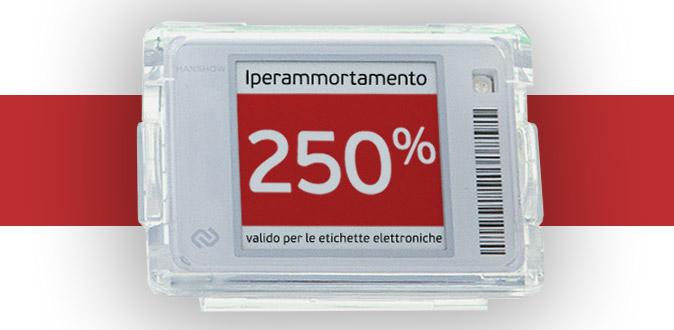 Iperammortamento 250% valido per le etichette elettroniche e le soluzioni di comunicazione MIMA